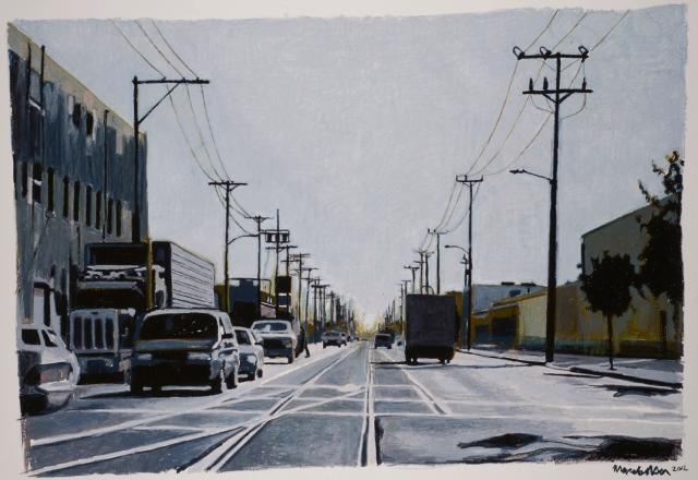 alameda-pastel à l'huile sur papier-2012