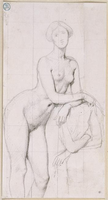 Etude de nu pour le portrait de la Princesse de Broglie