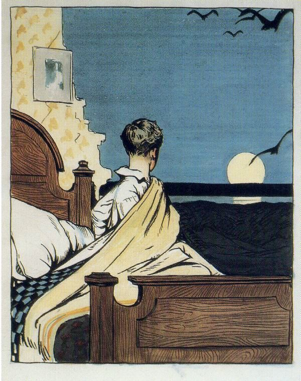 hopper - boy and moon