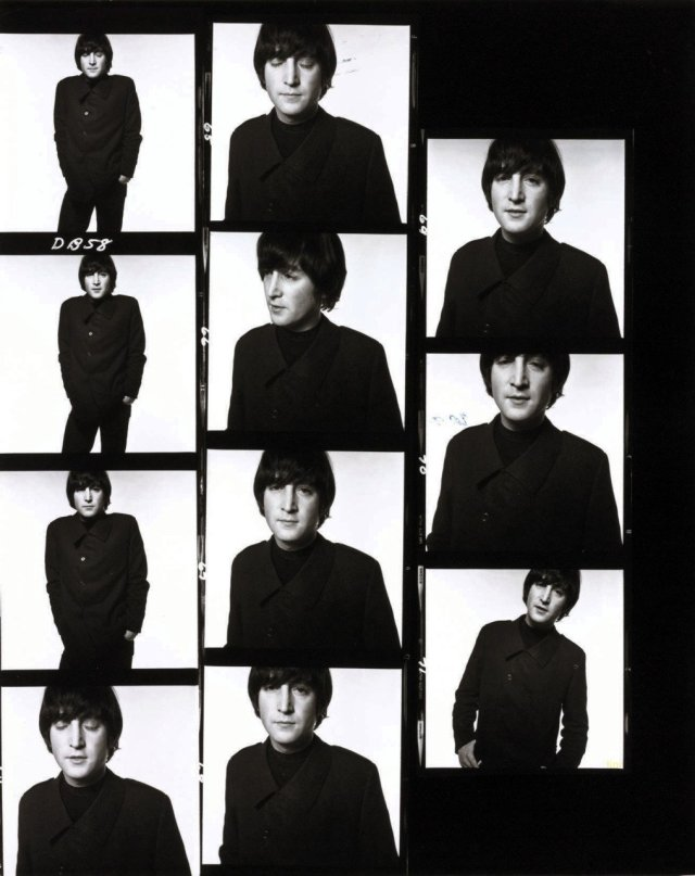 David Bailey The Beatles contact sheet 1965 (11)