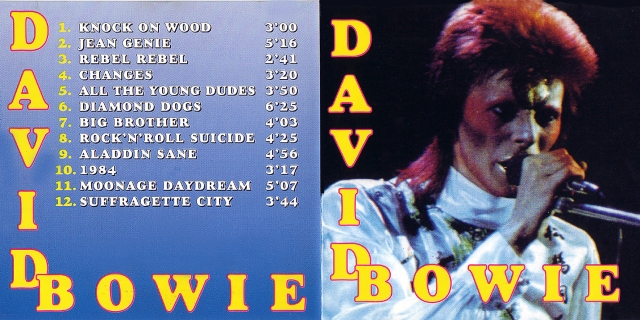 David Bowie - Front & Inlay